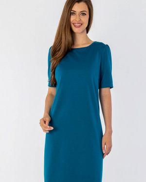 Повседневное платье бирюзовый осеннее S&a Style
