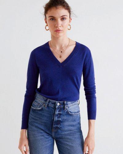 Синий пуловер Mango