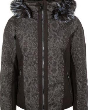 Приталенная черная куртка с капюшоном на молнии с карманами Luhta