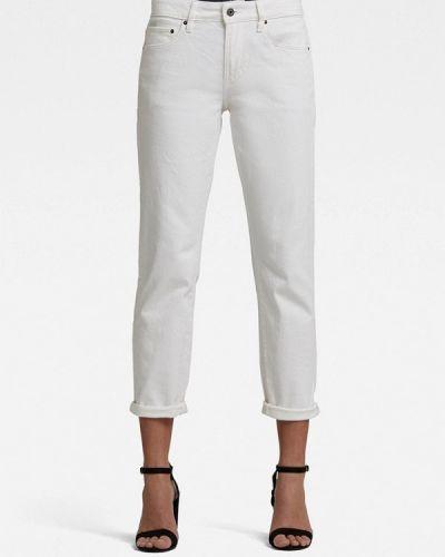 Белые джинсы бойфренды G-star
