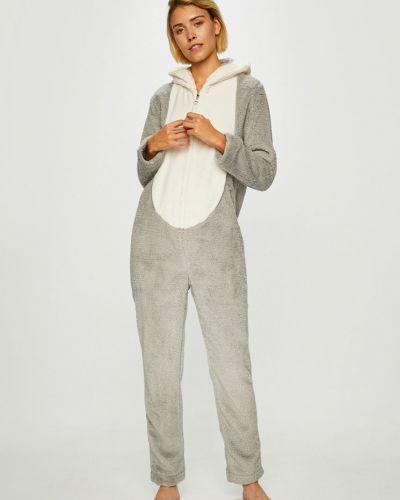Пижама с рубашкой серая Etam