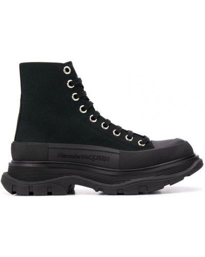 Sneakersy wysokie - czarne Alexander Mcqueen