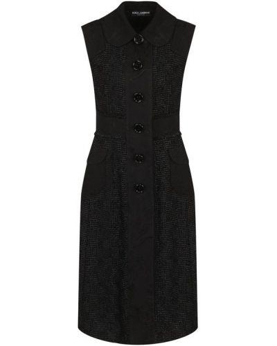 Вязаная жилетка классическая на пуговицах с отложным воротником Dolce & Gabbana