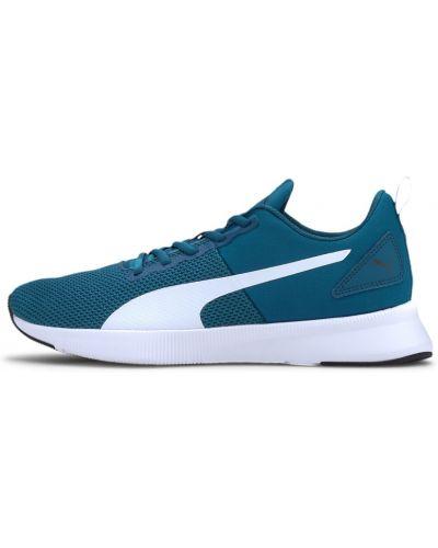 Спортивные синие кроссовки для бега на шнуровке сетчатые Puma