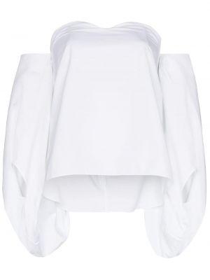 Блузка с открытыми плечами - белая Rosie Assoulin