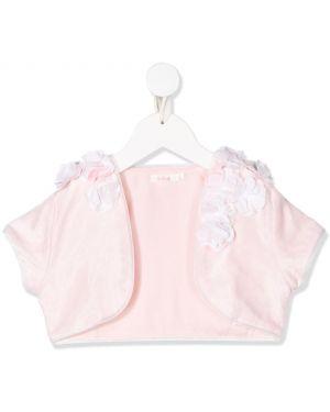 Różowa kurtka krótki rękaw z wiskozy Billieblush