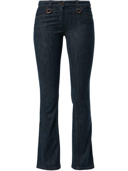 Прямые синие джинсы с низкой посадкой Céline Pre-owned