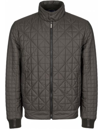 Кожаная куртка из полиэстера - серая Gallotti