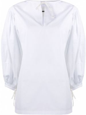 Tunika bawełniana - biała Jil Sander