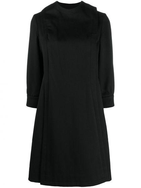 Черное пальто на пуговицах Pierre Cardin Pre-owned