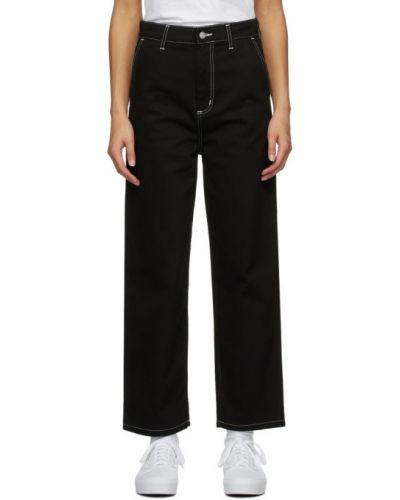 Biznes czarny jeansy z kieszeniami z łatami Carhartt Work In Progress