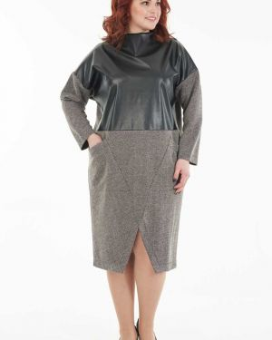 Платье с поясом платье-сарафан кожаное Wisell
