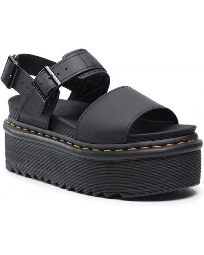 Sandały skórzane - czarne Dr. Martens