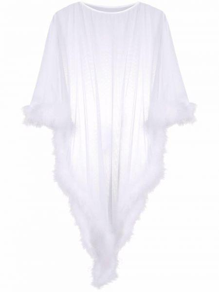 Biały ponczo z siateczką Folies By Renaud