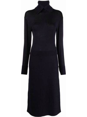 Платье макси с длинными рукавами - синее Dorothee Schumacher