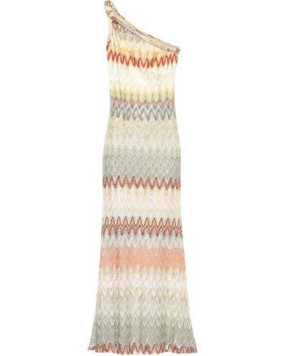 Платье макси через плечо вязаное Missoni