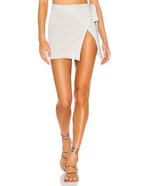 Серебряная юбка с люрексом Lovers + Friends