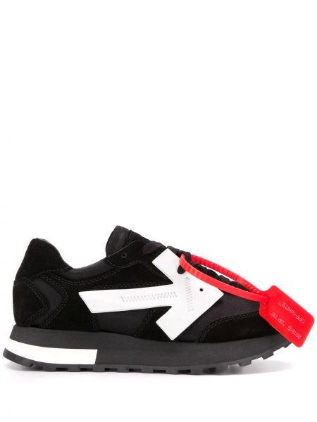 Кроссовки с логотипом черные Off-white