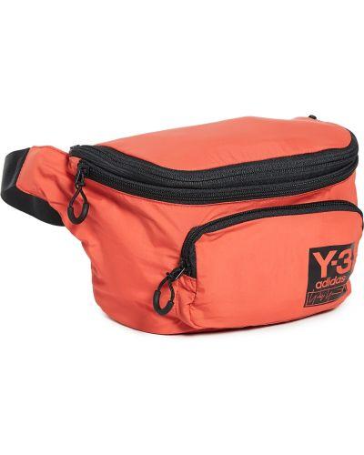Czarny plecak z printem z paskiem Y-3