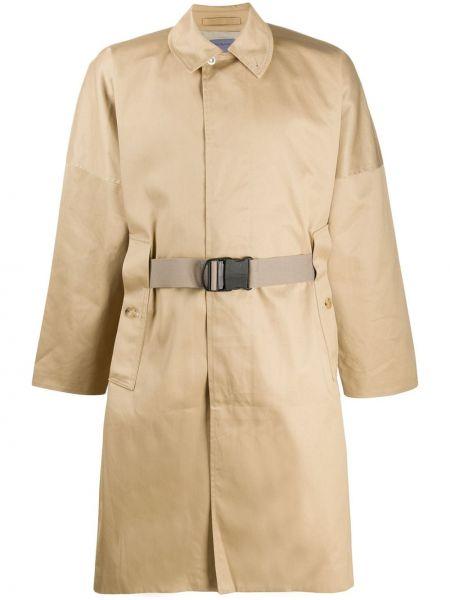 Płaszcz khaki z paskiem bawełniany Poliquant