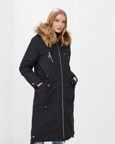 Утепленная куртка демисезонная черная Snowimage