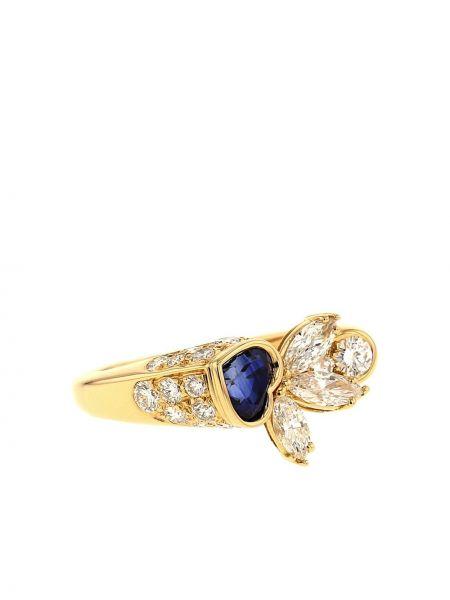 Niebieski złoty pierścionek szafir Piaget