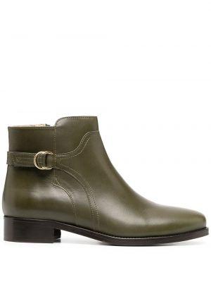 Кожаные зеленые ботинки челси на молнии на каблуке Tila March