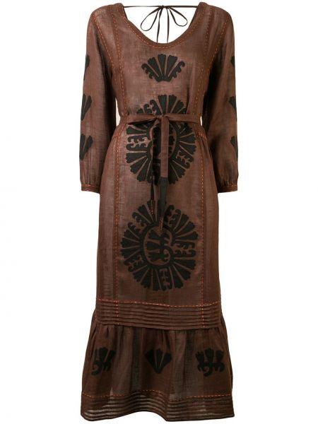 Платье миди плиссированное с рукавами Vita Kin