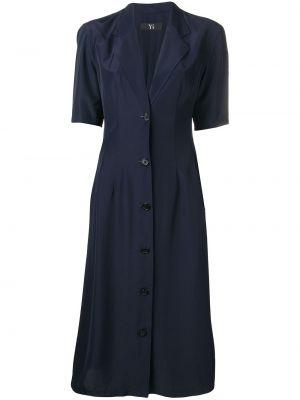 Платье миди винтажная на пуговицах Yohji Yamamoto Pre-owned