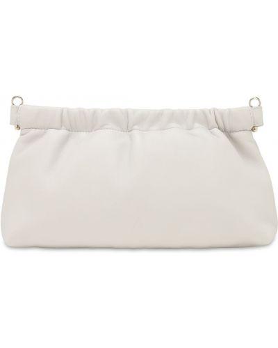 Кожаный белый клатч с карманами The Attico
