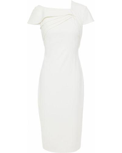 Плиссированное платье - белое Badgley Mischka