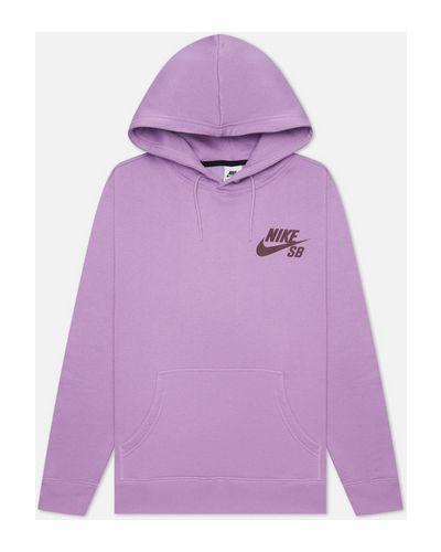 Фиолетовая хлопковая толстовка Nike Sb