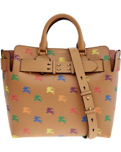 Кожаная сумка сумка-тоут с ручками Burberry