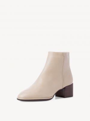 Бежевые ботинки на каблуке Tamaris