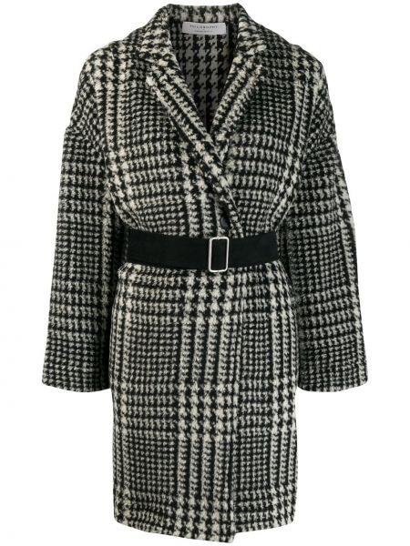 Длинное пальто с капюшоном на пуговицах Philosophy Di Lorenzo Serafini