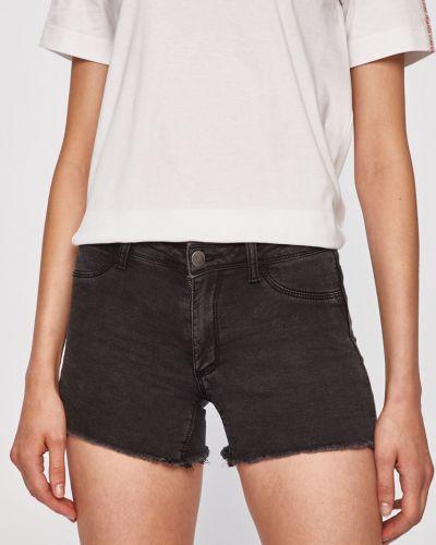 Джинсовые шорты облегающие серые Jacqueline De Yong