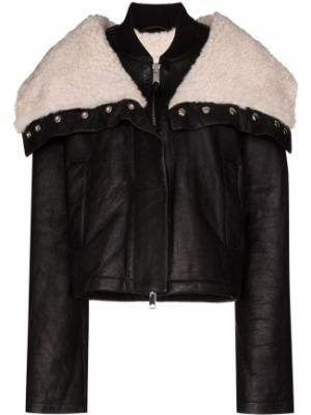 Ciepła czarna kurtka z długimi rękawami Shoreditch Ski Club