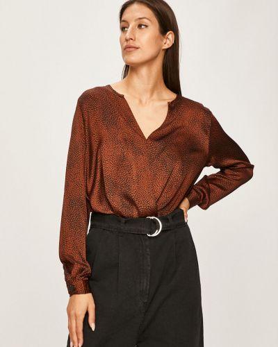 Блузка с V-образным вырезом черная Answear