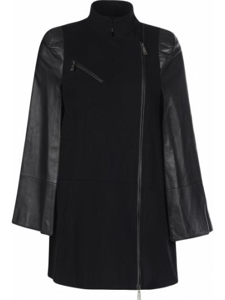 Кашемировое пальто - черное Richmond