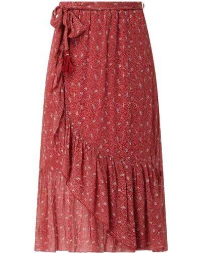 Spódnica midi z falbanami rozkloszowana z wiskozy Nile