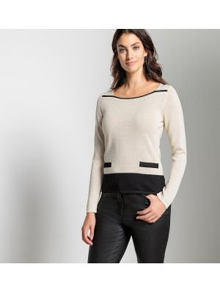 Пуловер шерстяной акриловый Anne Weyburn