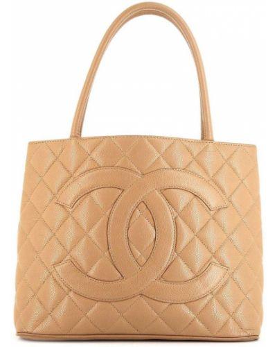 Кожаная стеганая сумка-тоут Chanel Pre-owned