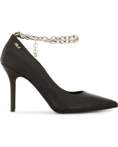 Czarny łańcuszek srebrny Karl Lagerfeld