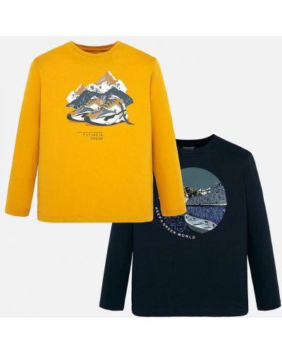 T-shirt żółty pomarańczowy Mayoral