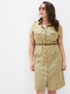 Зеленое платье-рубашка Electrastyle