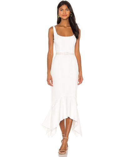 Beżowa sukienka midi na co dzień z paskiem Keepsake