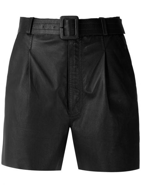 Черные кожаные шорты Nk