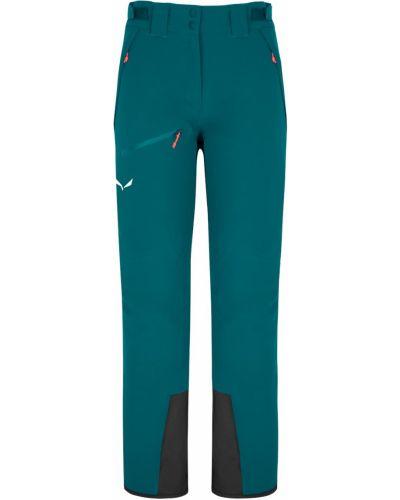 Спортивные брюки из полиэстера - бирюзовые Salewa