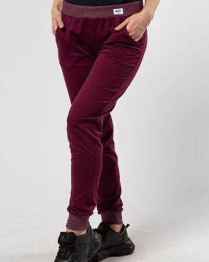 Спортивные хлопковые бордовые спортивные брюки Samo