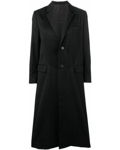 Однобортное черное пальто классическое с капюшоном Comme Des Garçons Noir Kei Ninomiya